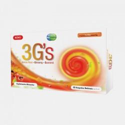 3G's Geleia real+Ginseng+Guaraná 20 ampolas